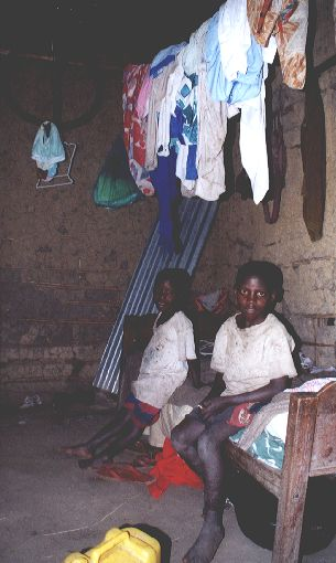 Sponsored child in bedroom
